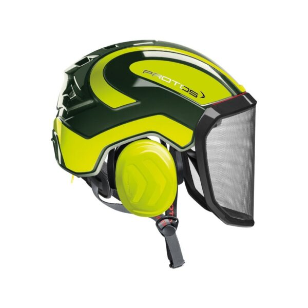 protos integral arborist helmet olive yellow