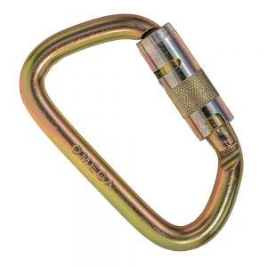 7 16 steel tri lock carabiner