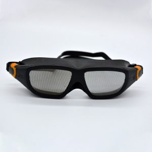 Safe Eyes Mesh Dust Safety Goggles orange clip 2