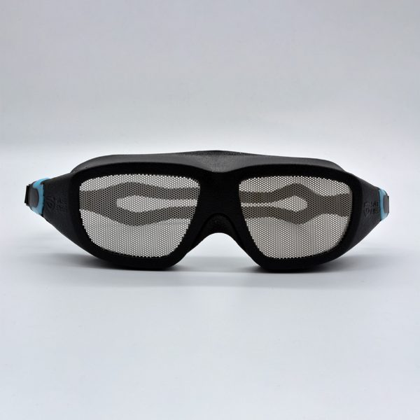 Safe Eyes Mesh Safety Goggles for Spectacles blue clip 2