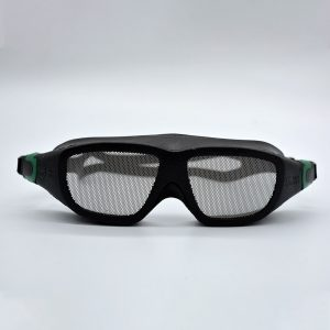 Safe Eyes Mesh Safety Goggles green clip 2