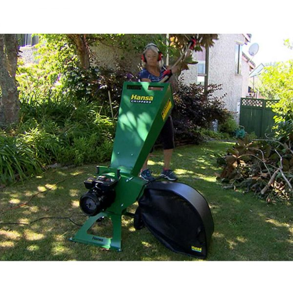 hansa c3e electric start wood chipper 06