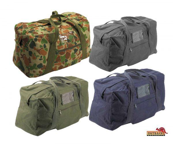 multi purpose canvas army echelon bags
