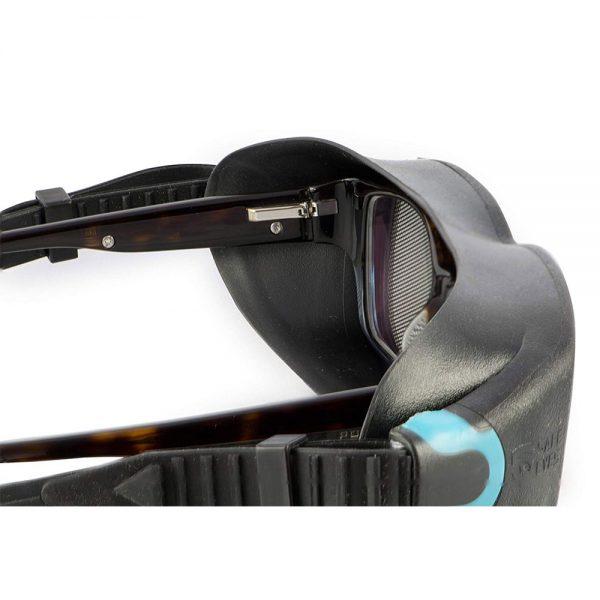 safe eyes mesh safety goggle blue clip 3