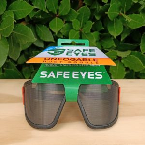 safe eyes original fine mesh safety goggles orange clip