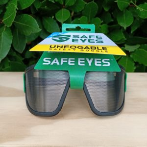 safe eyes original standard mesh safety goggles green clip