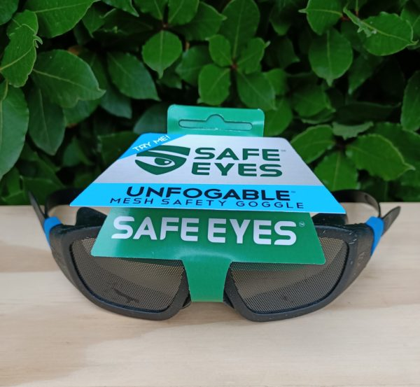 safe eyes standard mesh safety goggles for spectacles blue clip