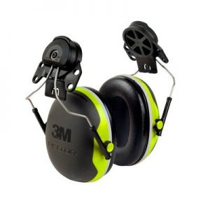 3m peltor x4p3e ear muffs cap mounted