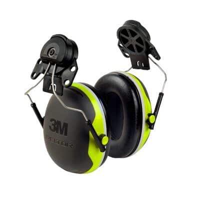 3m peltor x4p3e ear muffs cap mounted