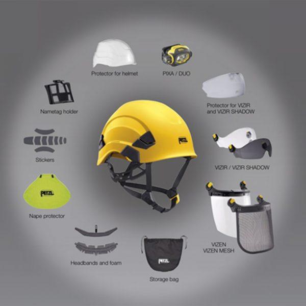 petzel helment accessories