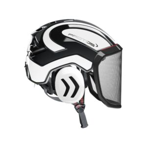 protos integral arborist helmet black white