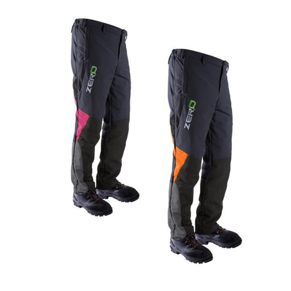clogger zero gen2 climbing chainsaw pants orange flash tcm
