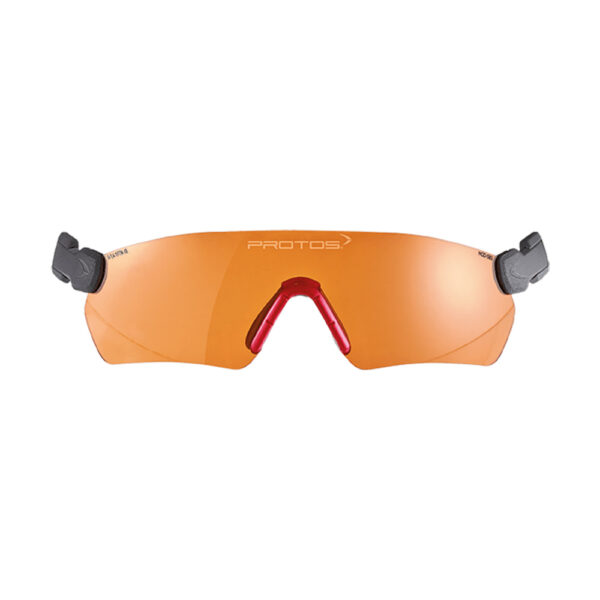 protos integral safety glasses orange tcm