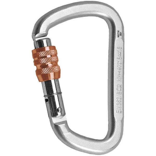 rock empire steel d keylock screwgate carabiner