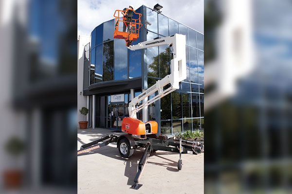 snorkel mhp13at trailer mounted boom lift